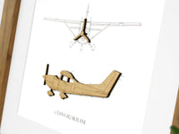 Cessna Skylane gift, aviation blueprint art