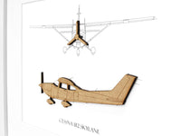 Cessna 182 Skylane blueprint art