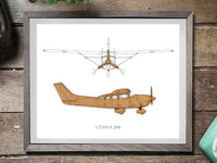 Cessna 206 Stationair aviation decor