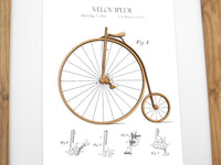 gift for cyclists, cycling art