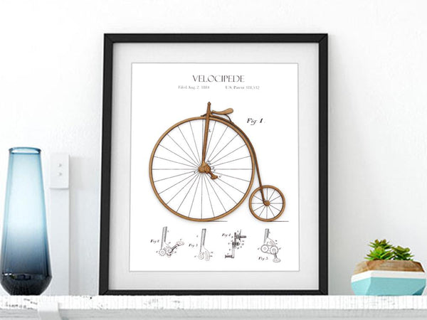 cycling gift, bicycle patent art