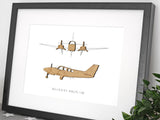 Beechcraft Baron G58 Gifts, Aviation Art