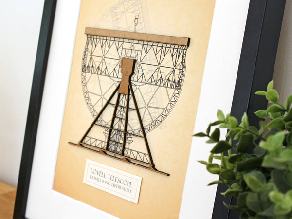 Lovell Telescope art, Jodrell Bank, Astronomy Gift