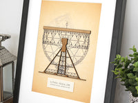 Jodrell Bank radio telescope art, astronomy space decor