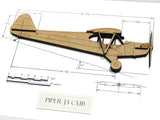 Piper J3 Cub aviation home decor