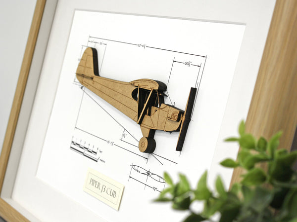 Piper J-3 Cub aviation art gift