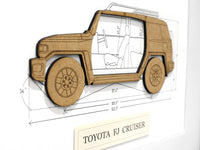 Toyota FJ Cruiser blueprint art