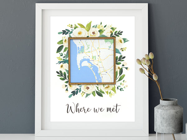 Where we met custom map