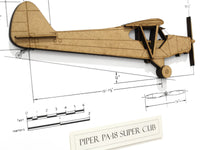 Piper PA-18 Super Cub aviation art