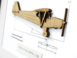 Piper Super Cub blueprint art