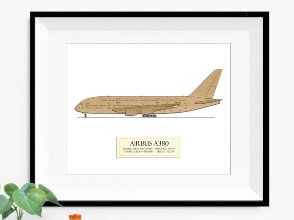Airbus A380 wall art