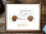 Ford Model A Sedan wall art gift