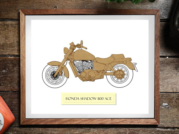 Honda Shadow 1100 ACE art motorycle gift
