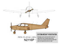 custom Piper Cherokee aviation art gift