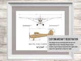 Aeronca 65 Super Chief blueprint aviation decor