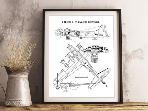 B-17 Flying Fortress art gifts