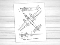 B-25 Mitchell print wall art