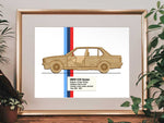 BMW e30 Sedan blueprint art