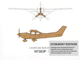 Cessna 182 Skylane, Aviation Decor, Laser Cut Wood, 8x10 or A4 sizes