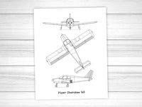 Piper Cherokee 140 blueprint art