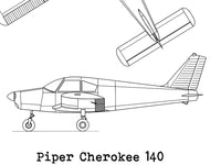Piper Cherokee 140 blueprint decor