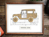 Toyota FJ40 blueprint decor