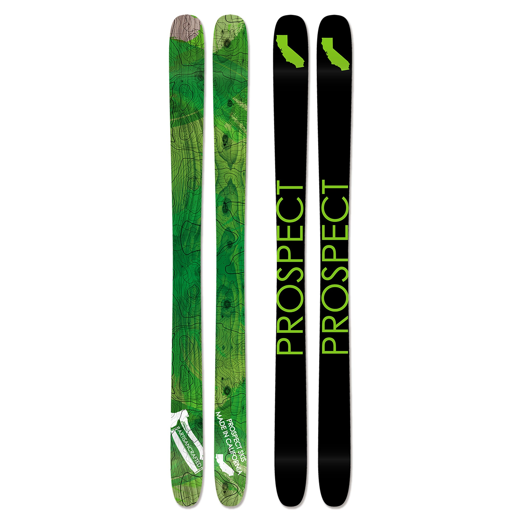 Powder freeride freestyle skis