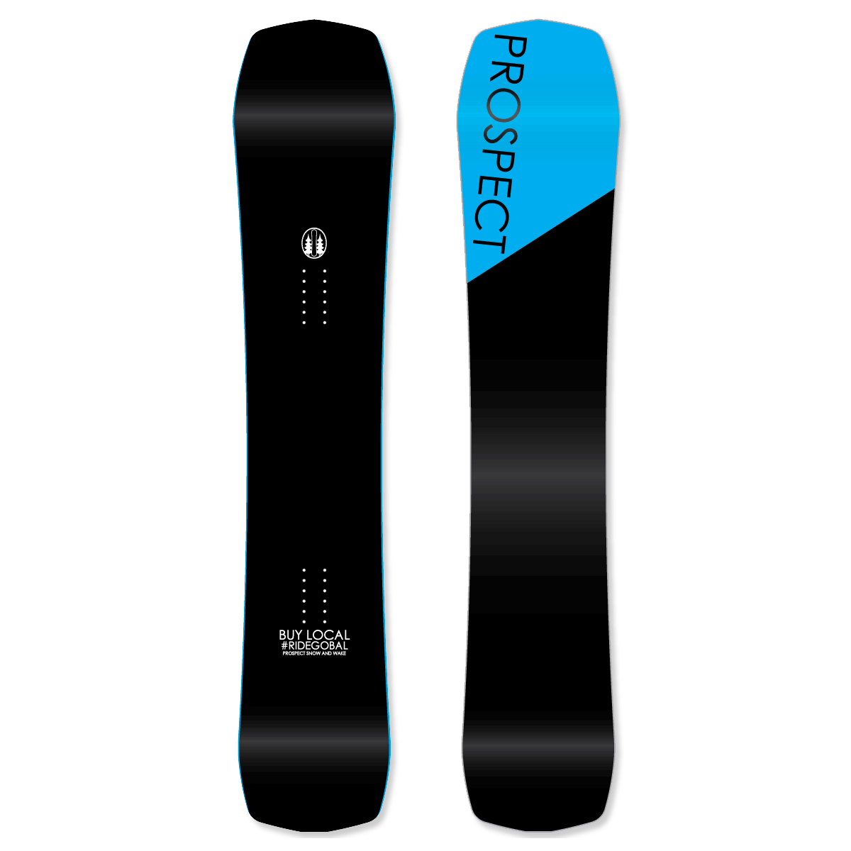 Powder freeride freestyle snowboards
