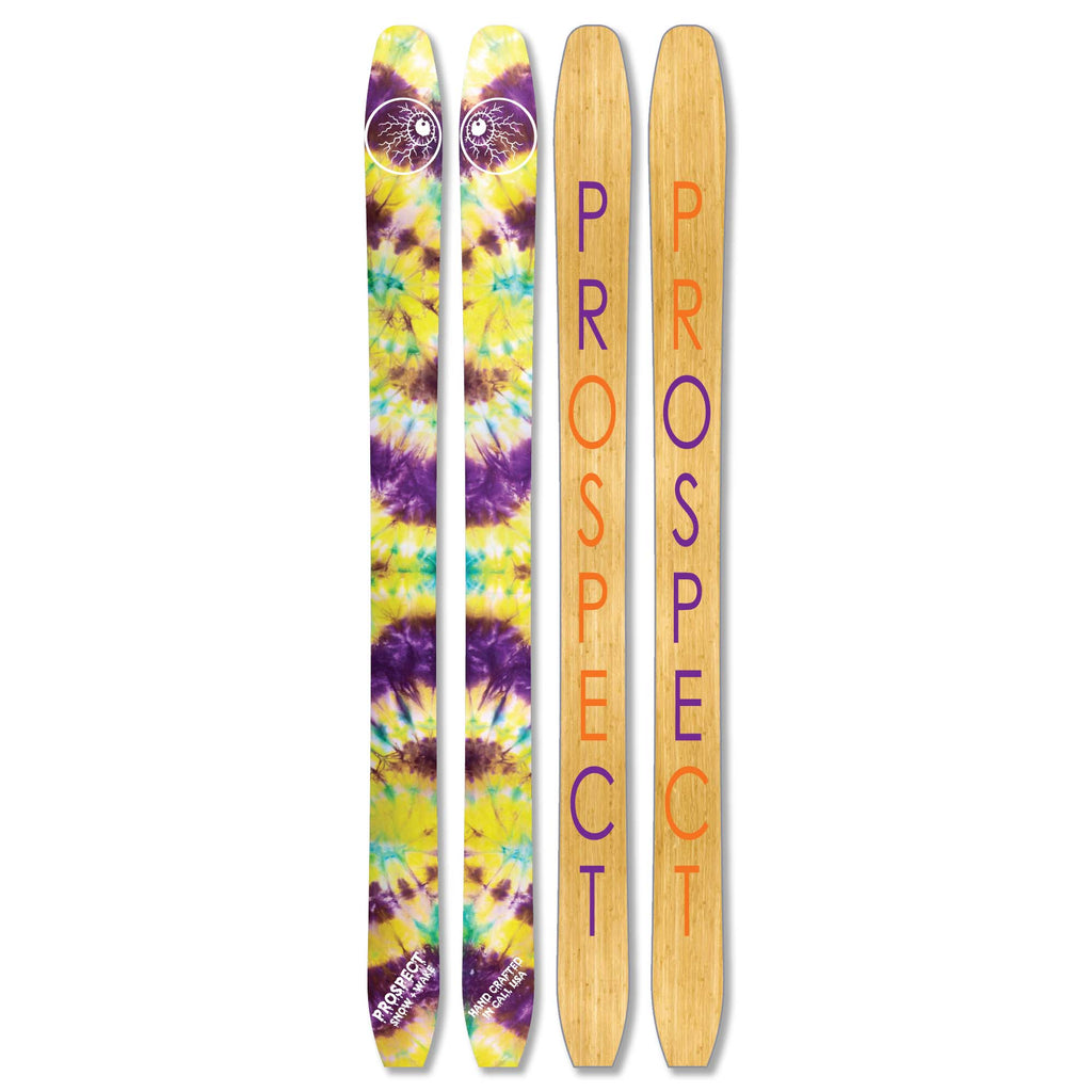Tie Dye Snow Craft Skis