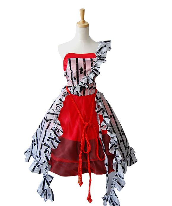 Alice au pays des merveilles Alice Robe Courte Rouge Cosplay Costume