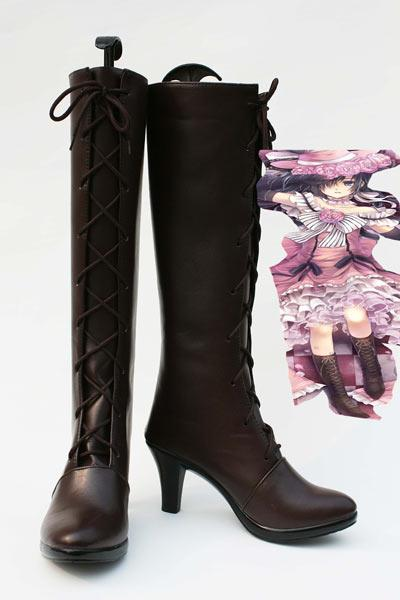 Black Butler Ciel Phantomhive Bottes Marrones Cosplay Chaussures