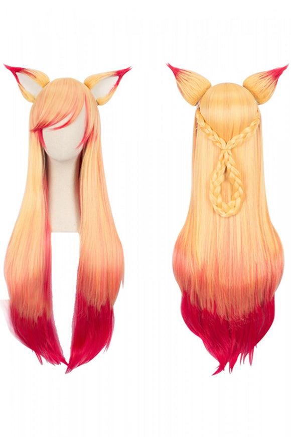 LoL League of Legends Ahri Soraka Perruque Cosplay Perruque