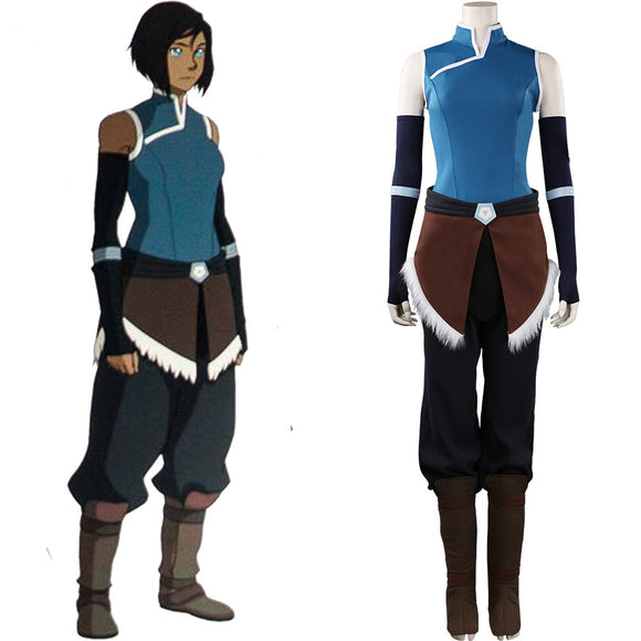La Légende de Korra The Legend of Korra Korra Cosplay Costume