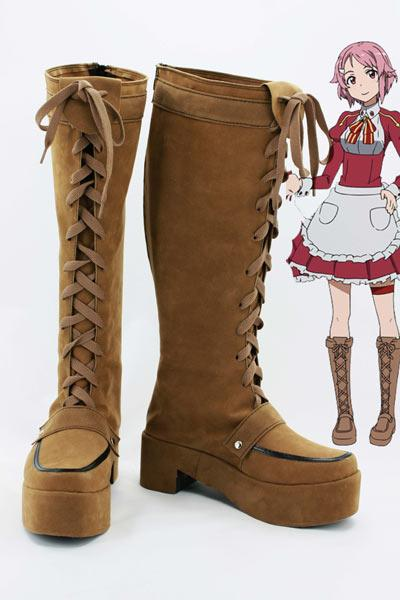 Sword Art Online Lisbeth Rika Shinozaki Cosplay Chaussures