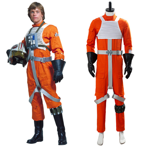 Star Wars X-Wing Rebel Pilote Uniform Orange Cosplay Costume