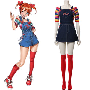 2019 Film Child's Play La Poupée du mal Chucky Femme Ver Cosplay Costume