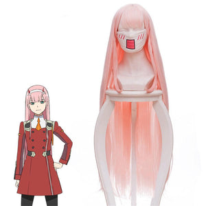 DARLING in the FRANXX Zero Two 02 Cosplay Perruque