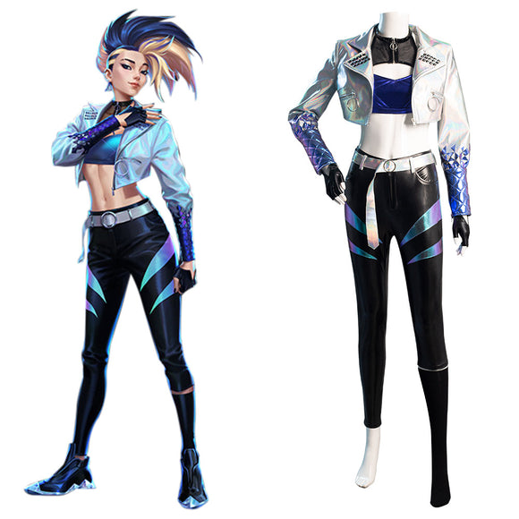 League of Legends LOL KDA Akali The Rogue Assassin Cosplay Costume