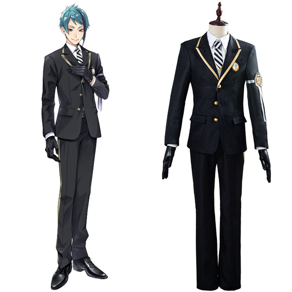 Twisted-Wonderland Azul/Floyd/Jade Uniforme Halloween Carnaval Cosplay Costume