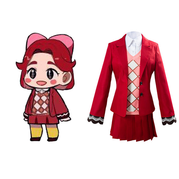 Animal Crossing Celeste Uniforme Halloween Carnaval Cosplay Costume