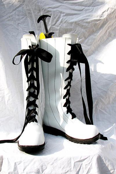 Black Butler Ciel Botte Blanche Cosplay Chaussures