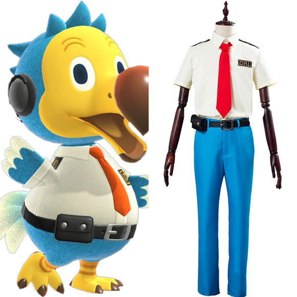 Animal Crossing Orville/Wilbur Dodo Airlines Pilote Unifrome Halloween Carnaval Cosply Costume