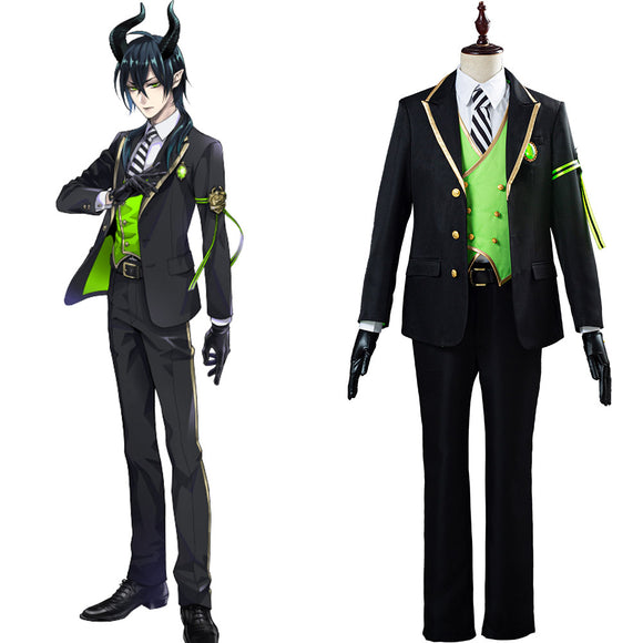 Twisted Wonderland Malleus/Sebek/Silver Uniforme Halloween Carnaval Costumes pour adulte Cosplay Costume