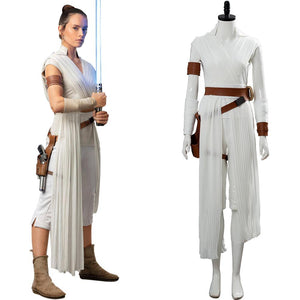 Star Wars 9 L'Ascension de Skywalker Rey Cosplay Costume Ver 2
