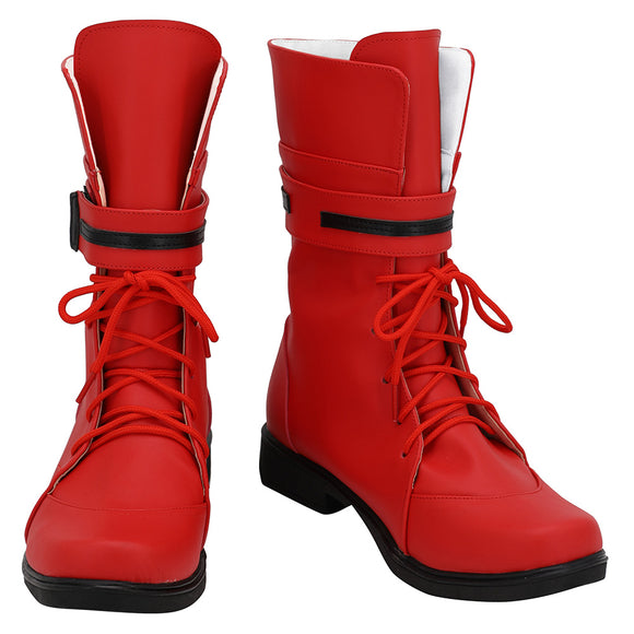 Final Fantasy VII Remake Tifa Lockhart Botte Halloween Carnaval Cosplay Chaussures