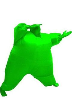 Gonflable Combinaison Taille d'Adulte Cosplay Costume Version Verte