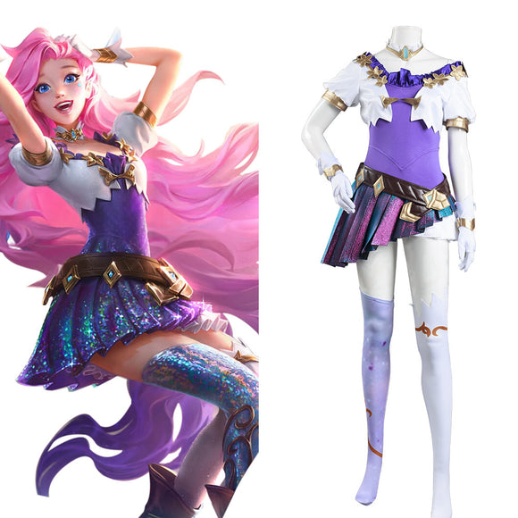 LOL League of Legends Seraphine Cosplay Costume