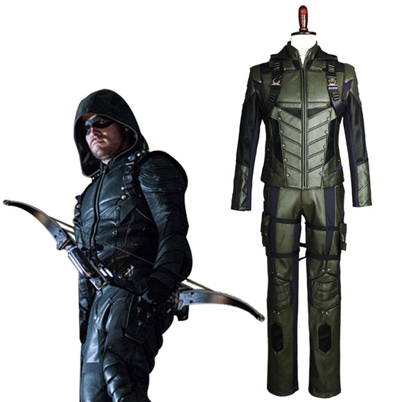 Arrow Saison 5 Oliver Queen Green Arrow Cosplay Costume