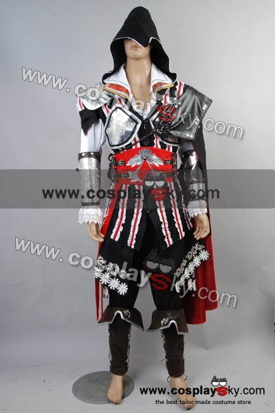 Assassin's Creed 2 II Ezio Cosplay Costume Version Noire