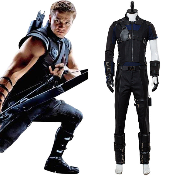 Captain America 3 Civil War Avengers Hawkeye Clint Barton Cosplay Costume